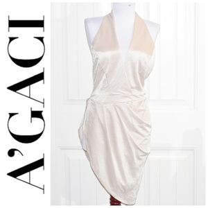 A'Gaci Taupe Halter Body Suit Size M  NWT